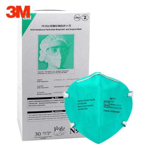 3M 9132 N95 Healthcare Particulate Respirators and Surgical Mask (Headband, No Valve, Surgical Grade >99% BFE) - CDC NIOSH Approved