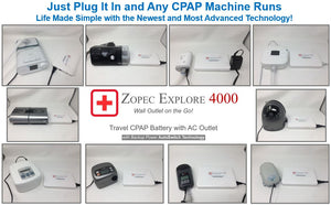 Zopec Explore 4000 Travel CPAP Battery (130 Wh)