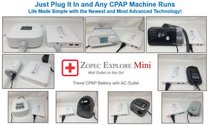 Zopec EXPLORE Mini Universal CPAP Battery