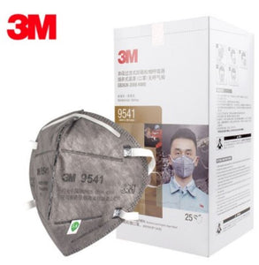 3M 9541 KN95 Particulate Respirators (Earloop, Activated Carbon, No Valve) - FDA Approved for Covid-19 Protection
