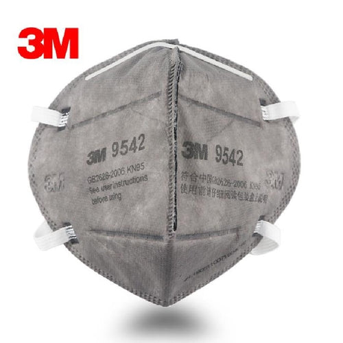 3M KN95 9542 Particulate Respirators (Headband, Activated Carbon, No Valve) - FDA Approved for Covid-19 Protection