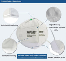 Load image into Gallery viewer, 3M 9501+ KN95 Particulate Respirators (Earloop, No Valve) - FDA Approved for Covid-19 Protection