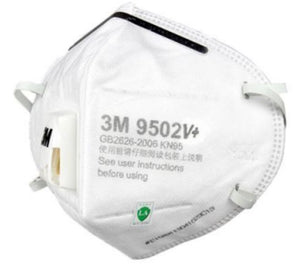 3M 9502V+ KN95 Particulate Respirators (Headband, Exhalation Valve) - FDA Approved Respirator for Covid-19 Protection