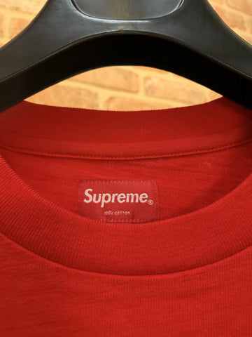 SUPREME POCKED TEE RED