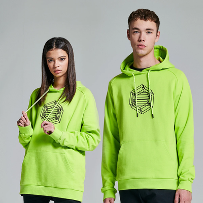 Logo Wireframe Hoodie Acid Green - Dolly Noire