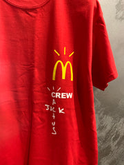 TRAVIS SCOTT X MC DONAL'S STAFF TEE RED