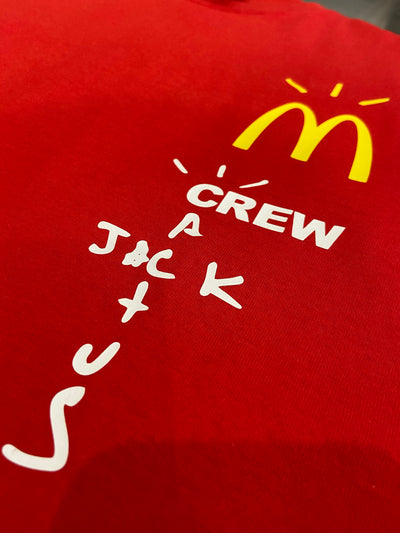 TRAVIS SCOTT X MCDONAL'S STAFF TEE RED