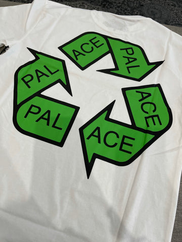PALACE P-CYCLE TEE WHITE & BLACK