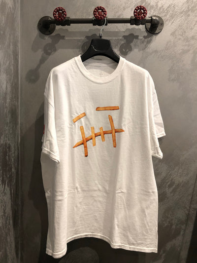 TRAVIS SCOTT X MC DONALD'S FRY TEE WHITE