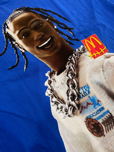 TRAVIS SCOTT X MC DONALD'S ACTION FIGURE SERIES TEE BLUE