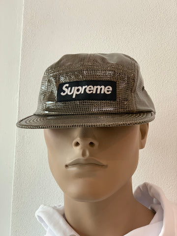 SUPREME LAMINATED BOX WEAVE CAMP CAP