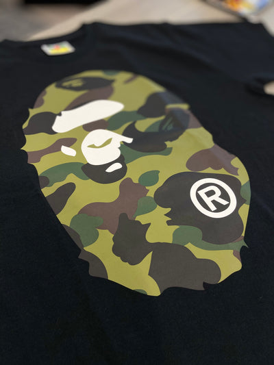 BAPE CAMO GREEN TEE BLACK