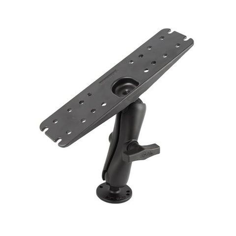 RAM-137U Rectangular Plate with Ball, Double Arm & Round Base  - RAM Mounts Pakistan - Mounts Pakistan