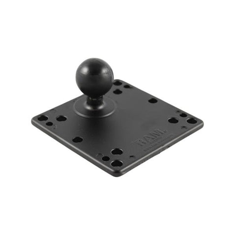 "RAM 4.75"" Square Base with VESA Hole Patterns & 1.5"" Ball (RAM-246-AD1U) - RAM Mounts Pakistan - Mounts Pakistan"