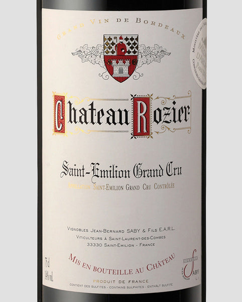 2016 Chateau Rozier Grand Cru St. Emilion - Bordeaux, France - SAVE 23%