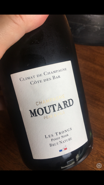 "Champagne Moutard ""les Troncs"" Pinot Noir Brut Nature - Champagne, France - SAVE 20% (available in December)"