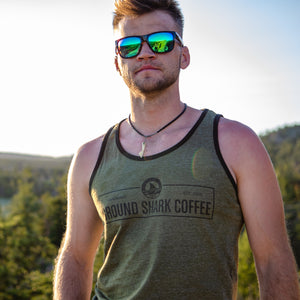 Men's Olive Green Retro Tank