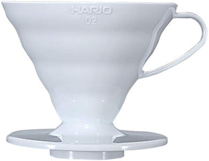 Hario Plastic Coffee Dripper, Size 02, White