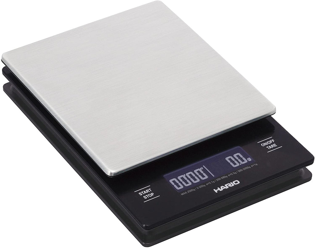 Hario V60 Drip Coffee Scale and Timer, Stainless Steel