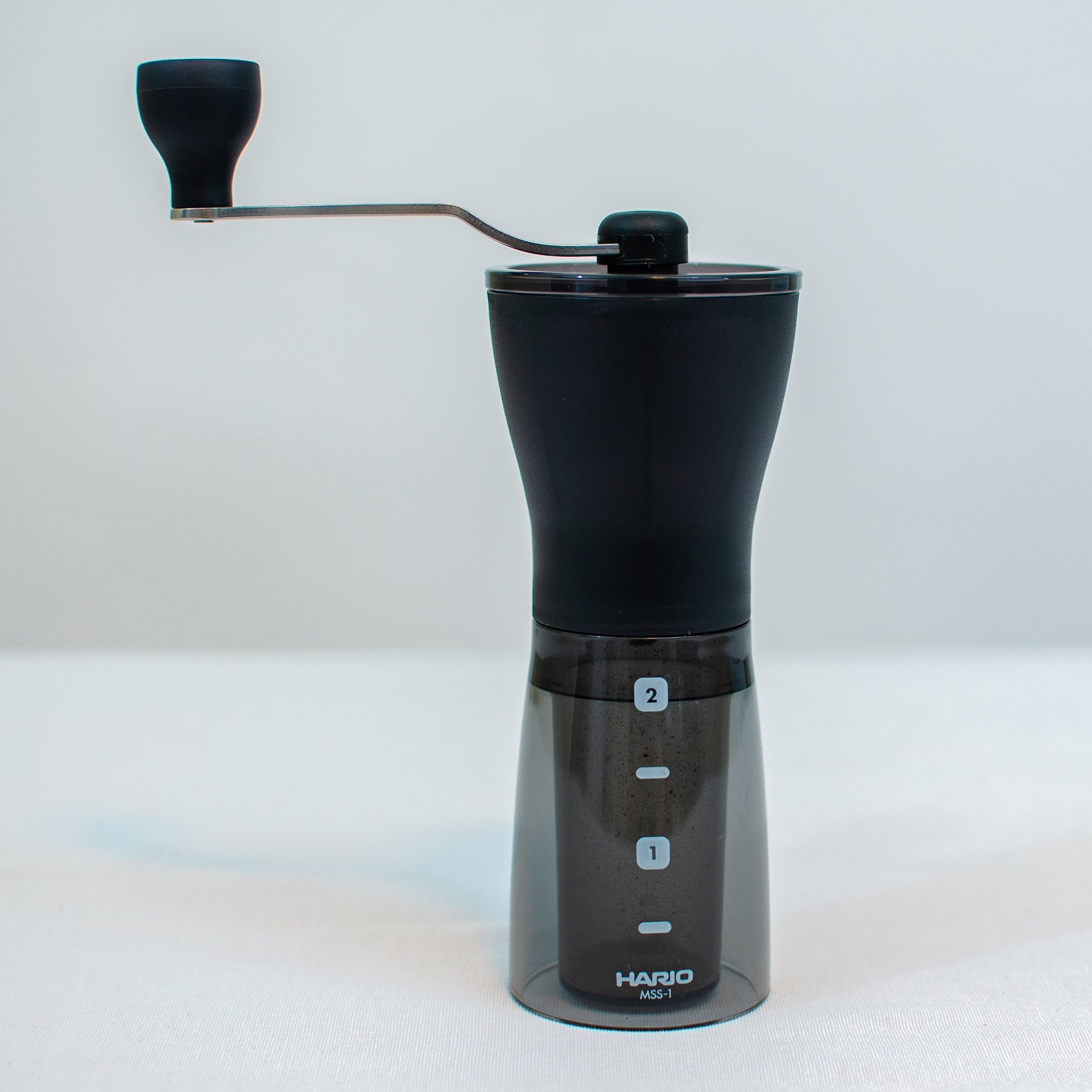 Hario Ceramic Coffee Mill, Mini Slim, Plus, Black