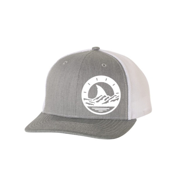White and Gray Trucker Hat