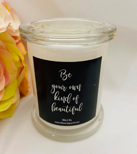 Candle with Quote,