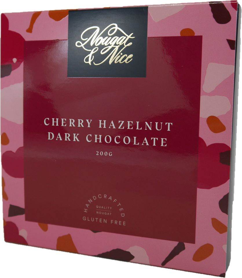 Nougat - Cherry Hazelnut Dark Chocolate Gift Box