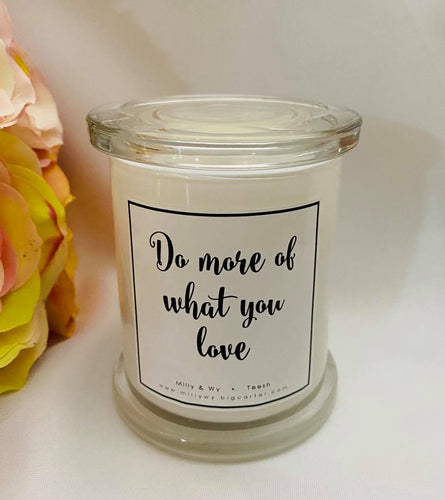 Candle with Quote -