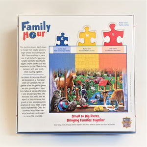 Family Hour: Peeking Through Jigsaw Puzzle