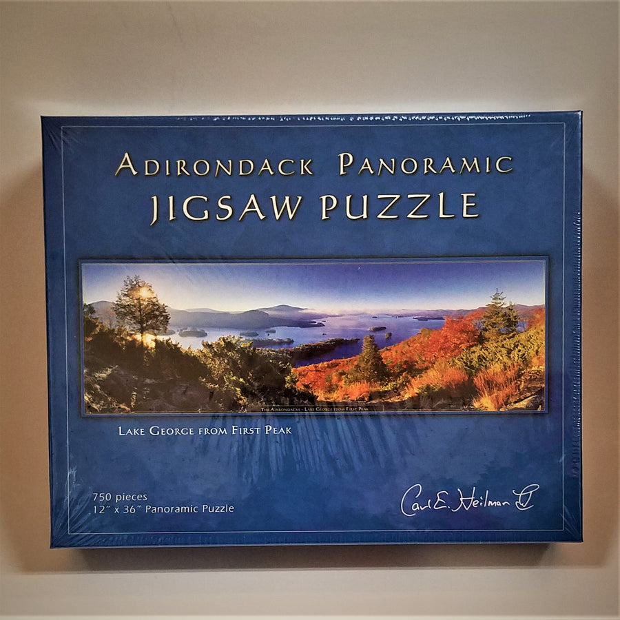 Lake George from First Peak Panoramic Puzzle