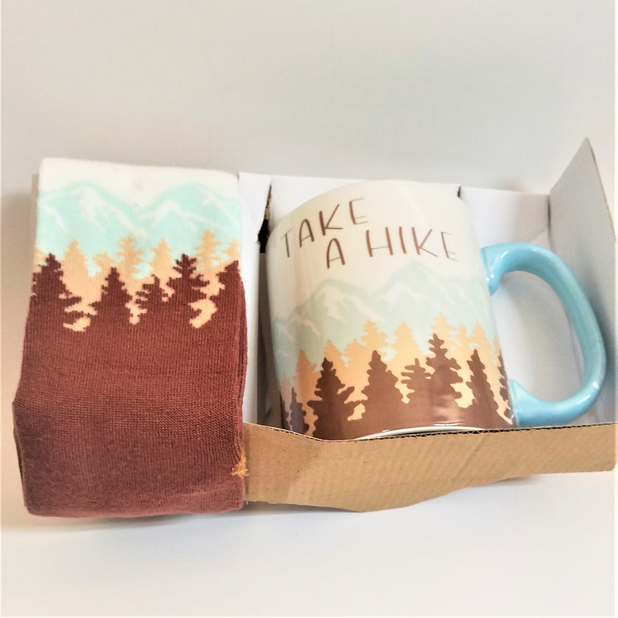 Take a Hike Mug and Sock Set