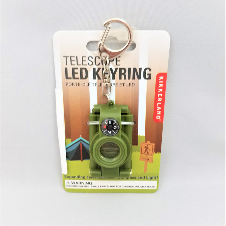 Telescope Compass Key Ring