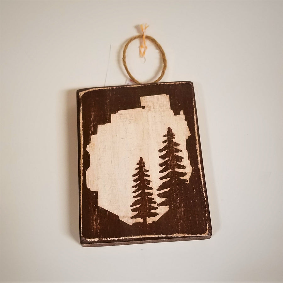 ADK Park Pine Tree Wooden Sign