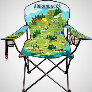 Adirondack Map Folding Chair