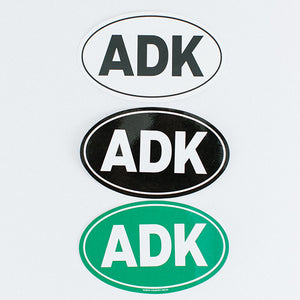 ADK Oval Bumper Sticker (black, white, green)