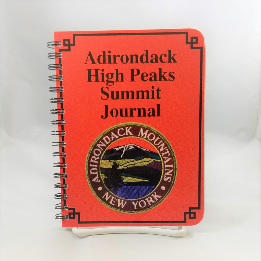 bright red cover of Adirondack High Peaks journal