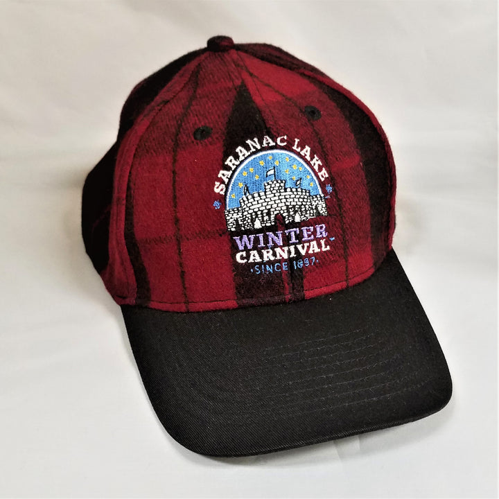 Winter Carnival Plaid Baseball Cap