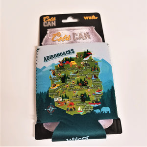 Adirondack Map Can Coozie