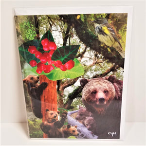 Bear Collage Card from Cindy Ayres