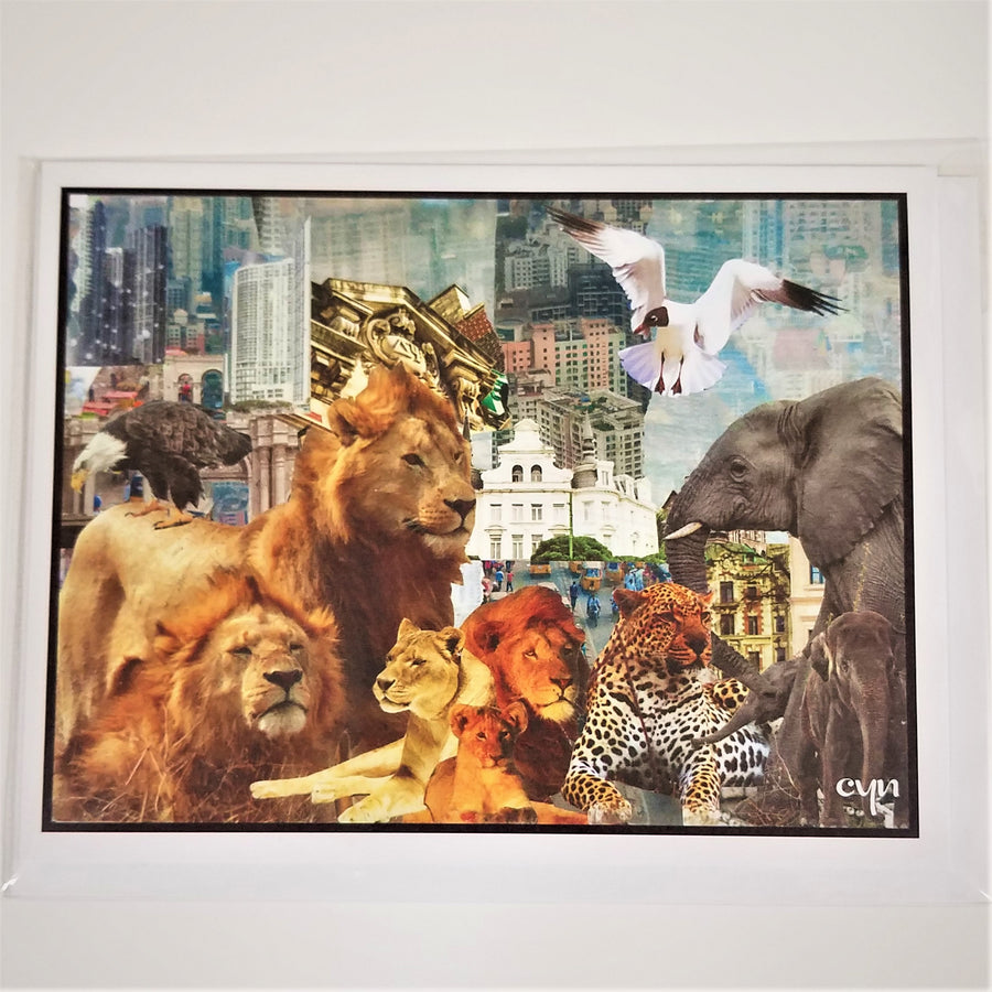 Wild Animals Collage Card from Cindy Ayres