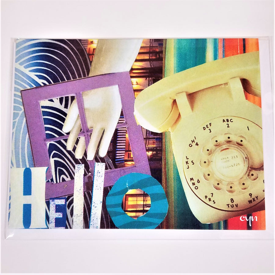 Hello Collage Card from Cindy Ayres