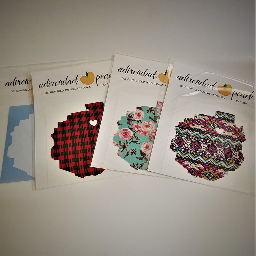 Adirondack Peach Heart of the Adirondacks Decals