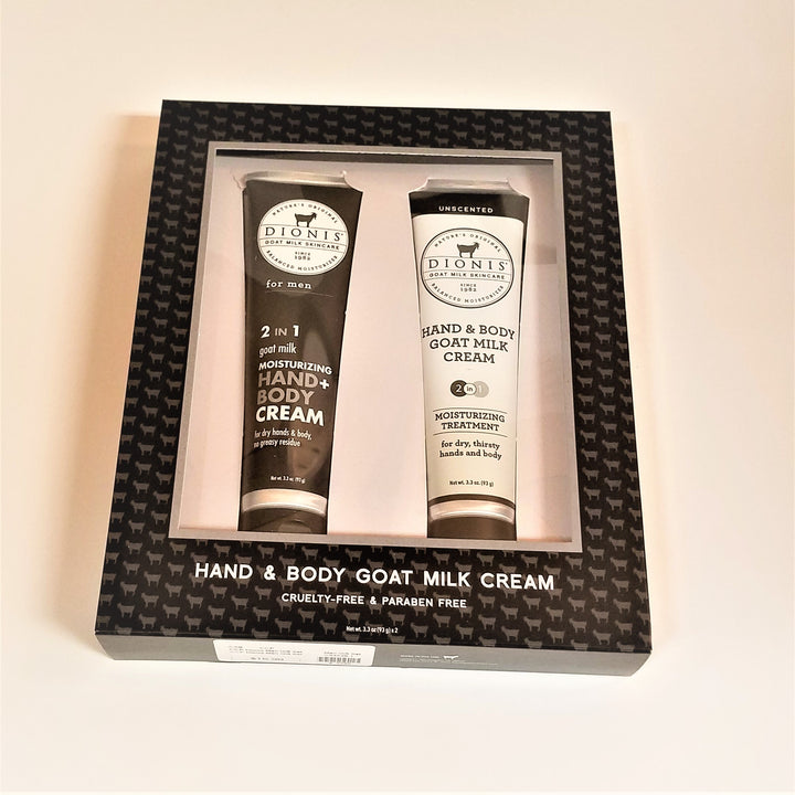 Dionis Hand & Body Goat Milk Cream Gift Set for Men