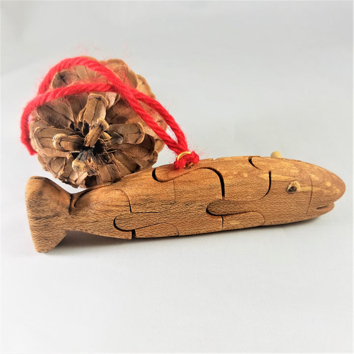 Wooden Fish Puzzle Ornament from Wood's Turn