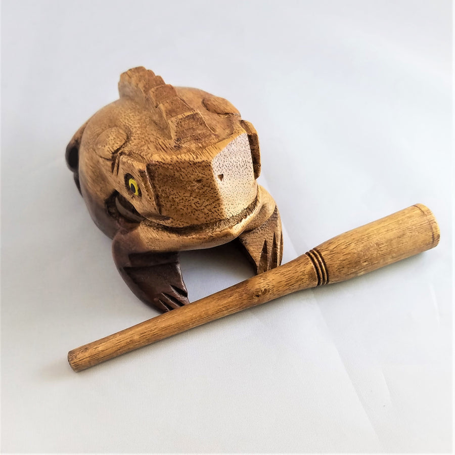 Wooden Bull Frog Percussion Instrument