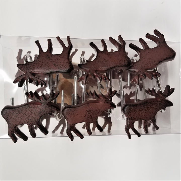 Moose Shower Curtain Hooks