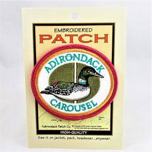 Adirondack Carousel Embroidered Patch