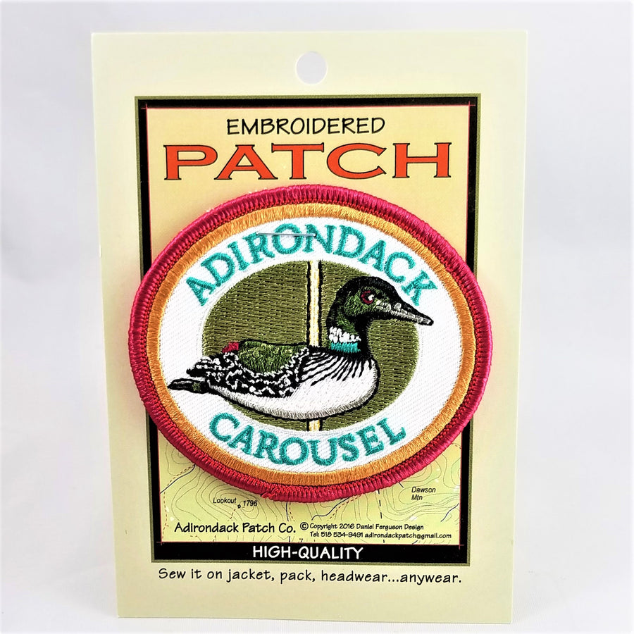 Loon graphic on Adirondack Carousel embroidered patch