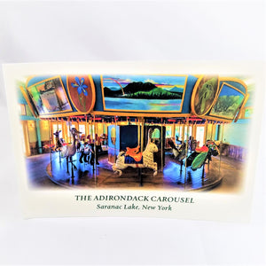 Full-color Adirondack Carousel--the carousel itself