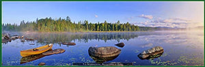 Reflections at Dawn--an Adirondack Panoramic Jigsaw Puzzle